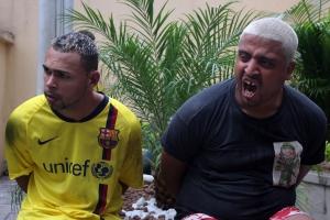 Fernando da Costa Cavalcante, o Trajadão, 21 anos, e Paulo Roberto da Silva, o Chucky, 32