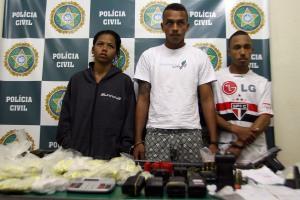 Liliane Aparecida Ramos de Azevedo, a Lili, 20 anos; Rodolfo Machado da Silva, o Ratinho, 23, e Reinaldo de Freitas, o Passarinho, 21
