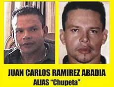 O traficante Juan Carlos Ramirez Abadia, o Chupeta, 46 anos, teria feito pelo menos quatro operações, em clínicas de cirurgia plástica nos Estados Unidos e também em São Paulo
